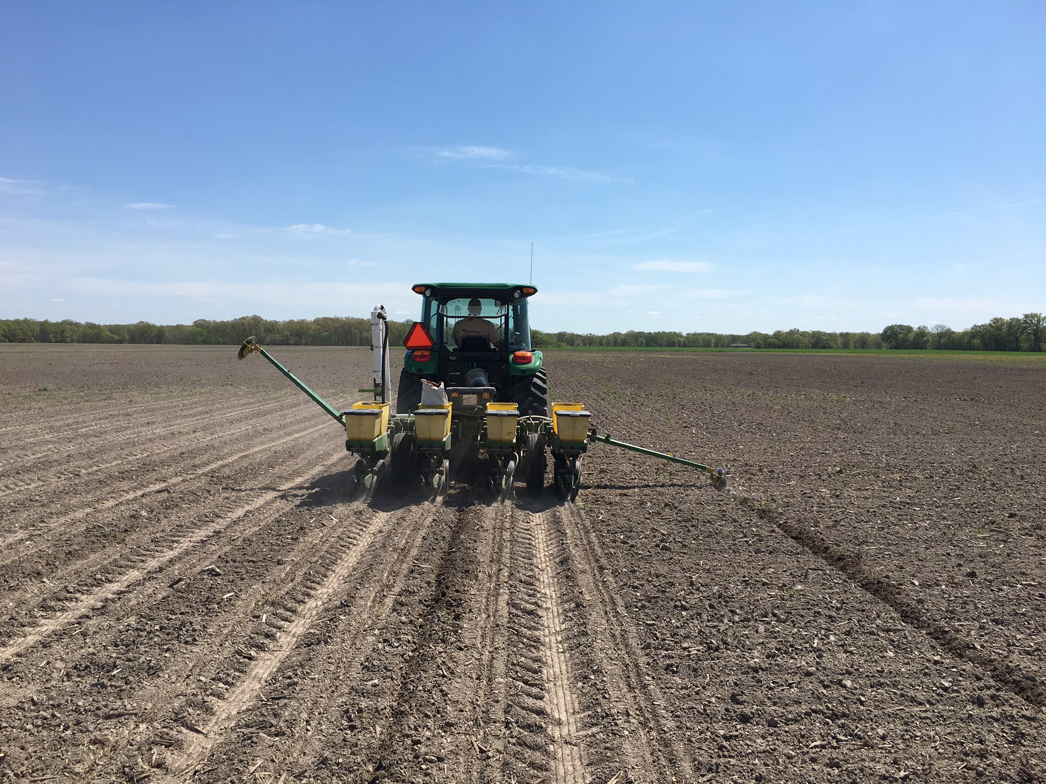 This agronomic photo shows planting demonstration plots for the Grow More Experience site.